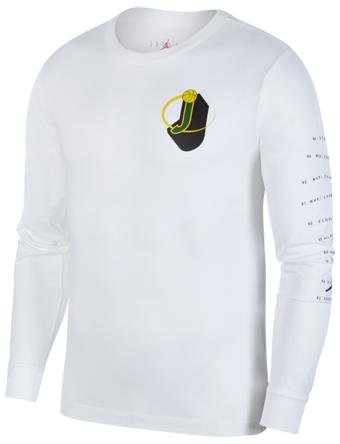 バスケットロング Tシャツ ウェア  ジョーダン ナイキ Jordan Jordan Retro 10 L/S T-Shirt Wht  ストリート 【MEN'S】