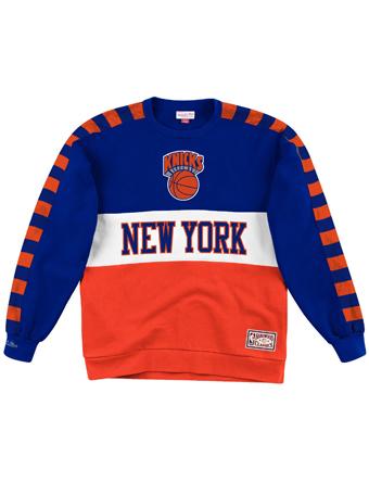バスケットスウェット ウェア 秋冬物 ミッチェルアンドネス Mitchell&Ness NBA Fleece Crew Knicks  ストリート 【MEN'S】
