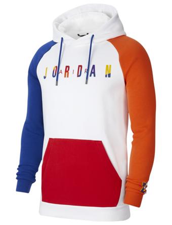 バスケットパーカー ウェア 秋冬物 ジョーダン Jordan Jordan Sport DNA HBR Fleece Hoodie Wht/Rush Blu/Brilliant Org  ストリート 【MEN'S】