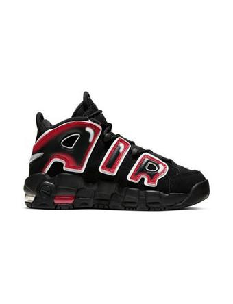 バスケットシューズ バッシュ スニーカー  ナイキ Nike Air More Uptempo GS GS Blk/Wht/Laser Crimson  ストリート 【GS】キッズ