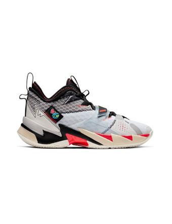 バスケットシューズ バッシュ  ジョーダン Jordan Jordan Why Not Zer0.3 GS GS Wht/U.Red/Blk/M.Silver  【GS】キッズ