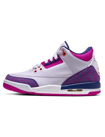 バスケットシューズ バッシュ スニーカー  ジョーダン Jordan Air Jordan 3 Retro GS GS Barely Grape/hyper Crimson/Fire Pink  ストリート 【GS】キッズ