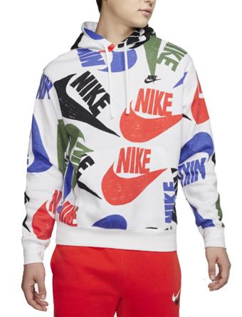バスケットパーカー ウェア 秋冬物 ナイキ Nike Nike Hand Drawn Logo AOP Hoodie Team Orange/White/Black  ストリート 【MEN'S】