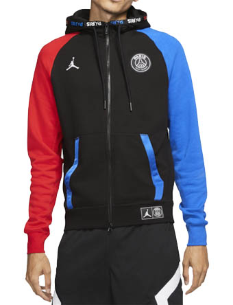 バスケットパーカー ウェア 秋冬物 ジョーダン Jordan Jordan Paris Fleece Full-Zip Hoodie Blk/Hyper Cobalt/U.Red  ストリート 【MEN'S】