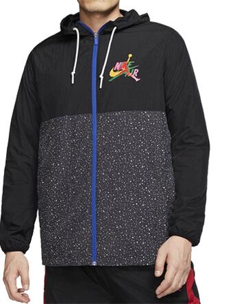 バスケットジャケット ウェア 秋冬物 ジョーダン Jordan Jumpman Classics Windwear Jacket Blk/Wht/Rush Blue/Field Purple  ストリート 【MEN'S】