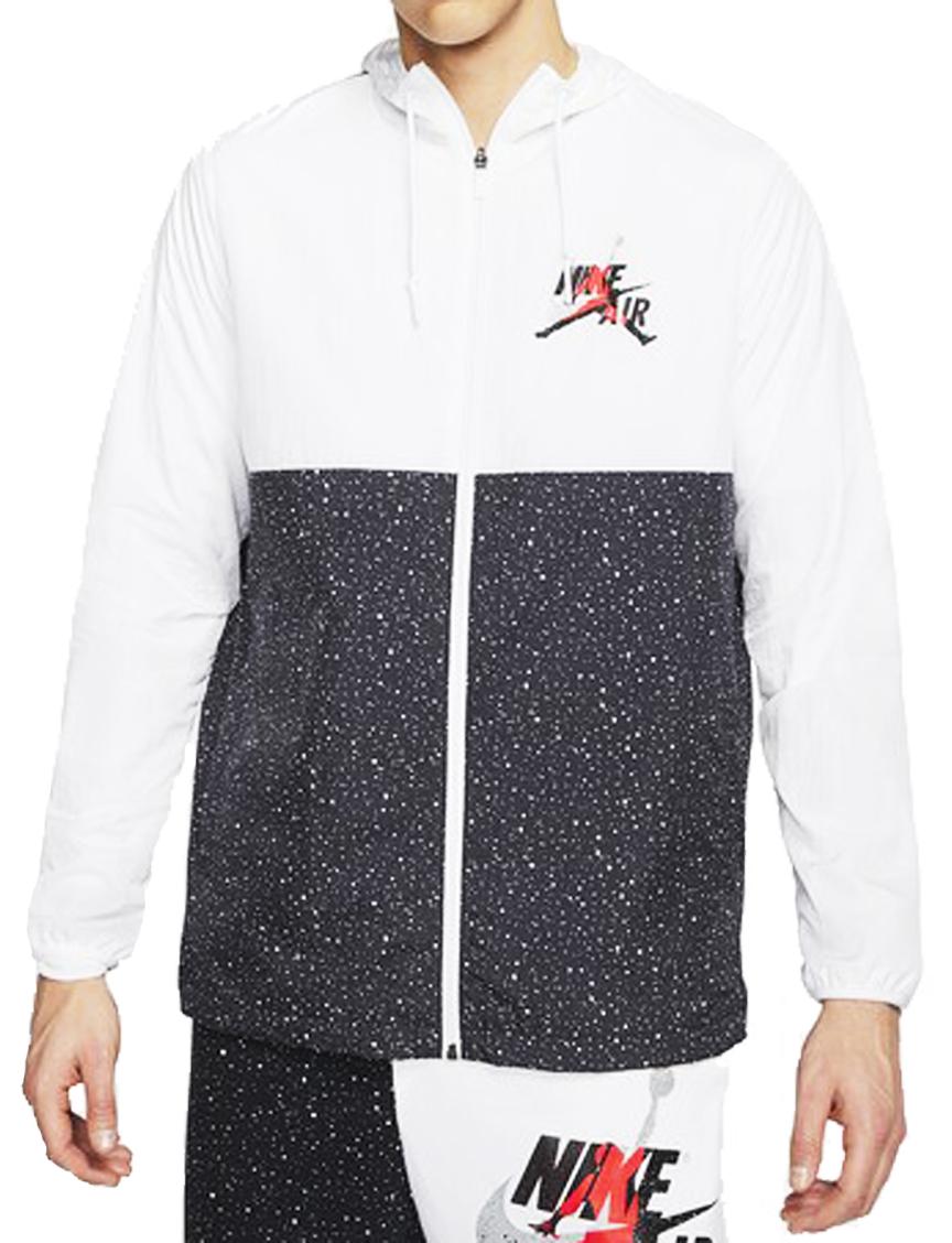バスケットジャケット ウェア 秋冬物 ジョーダン Jordan Jumpman Classics Windwear Jacket Wht/Blk/Infrared 23/M.Silver  ストリート 【MEN'S】