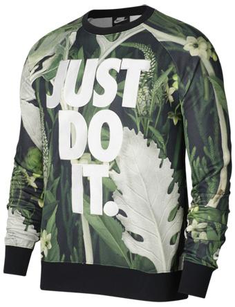 バスケットスウェット ウェア 秋冬物 ナイキ Nike JDI Floral Crew Spruce Aura  ランニング トレーニング ストリート 【MEN'S】
