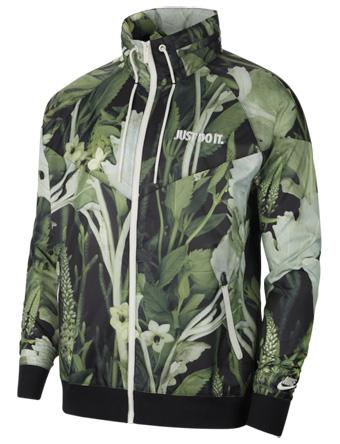 バスケットジャケット ウェア 秋冬物 ナイキ Nike JDI Windrunner Woven Floral Jacket Spruce Aura  ランニング トレーニング ストリート 【MEN'S】