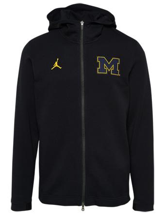 バスケットパーカー ウェア 秋冬物 ジョーダン Jordan Jordan College Showtime Full-Zip Hoodie Blk/Michigan Wolverines  ランニング トレーニング ストリート 【MEN'S】