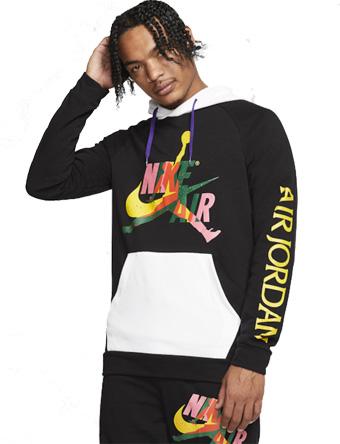 バスケットパーカー ウェア 秋冬物 ジョーダン Jordan Jumpman Classics Hoodie Blk/Wht  ストリート 【MEN'S】