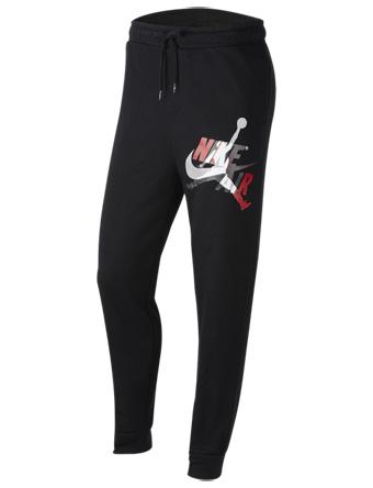 バスケットパンツ ウェア 秋冬物 ジョーダン Jordan Jumpman Classics Fleece Pants Blk/Gym Red  ストリート 【MEN'S】