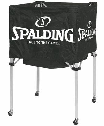 ダッフル バックパック シューズケース ボールバック等 バスケットバッグ ボールバック 販売期間 限定のお得なタイムセール Blk 正規品スーパーSALE×店内全品キャンペーン Spalding ブラック スポルディング ボールカート