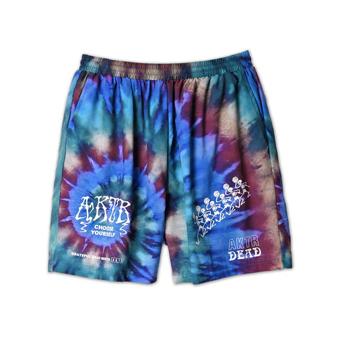 買い取り 豊富な種類から選べる バスケットショーツ バスパン ウェア アクター AKTR xGRATEFUL DEAD BLUE TIEDYE PANTS 安心の定価販売 WIDE MEN'S SKELETON SHORT
