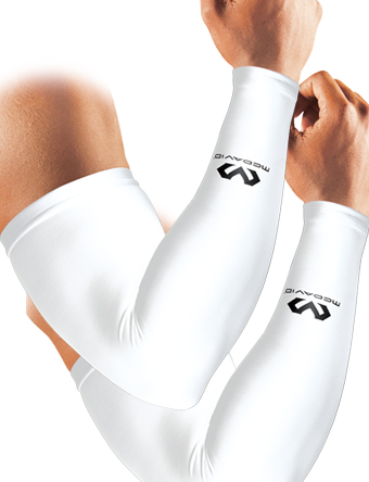 籃球防護帶臂胳膊pawaamusuribu 2個裝的makudabiddo McDavid PowerS ArmSlv 2P Wht/2pcs跑步訓練