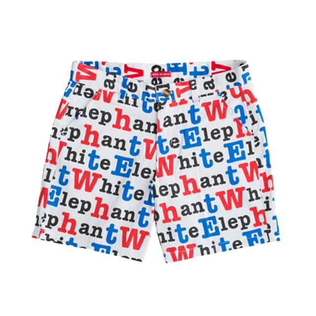 【White Elephant】ホワイト・エレファント【ガールズ】ハーフパンツ(アルファベット柄) о雨具_レインコート_ジュニア_ゴルフウェア_かわいい_おしゃれ_ホワイトエレファント_White_Elephant' 【メール便可】