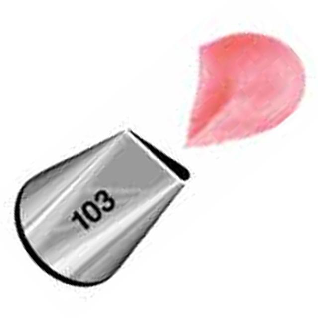 WILTON (ウィルトン) ペタルチップ #103 【口金 バラ】оキッチン用品_食器_調理器具_調理_製菓道具_お菓子作り_道具_デコレーションツール_製菓用品_バレンタイン_ホワイトデー_クリスマス_手作り