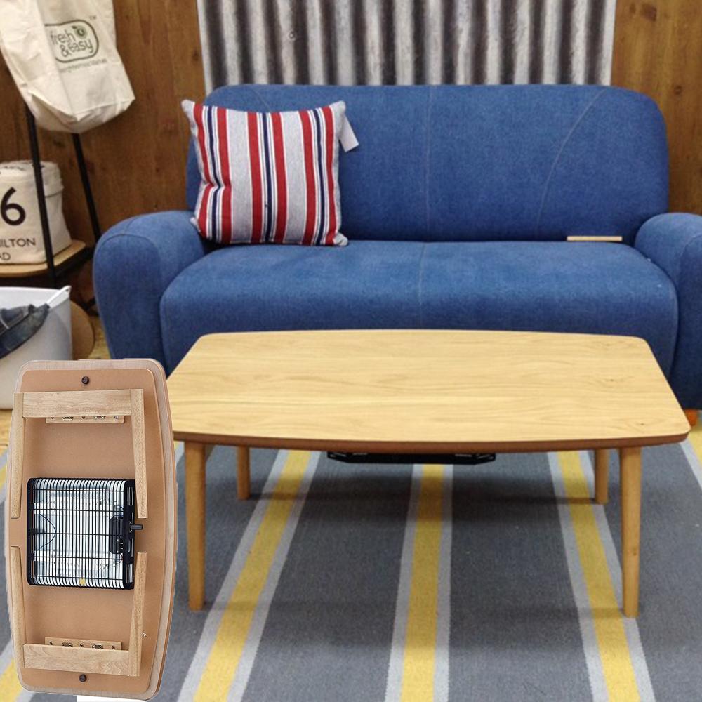 【送料無料】折脚コタツ ELFY エルフィ901OAK こたつ 幅90CM テーブル 東谷 AZUMAYA  '天然木 折りたたみ式 フォールディング ダイニングテーブル ひとり暮らし ちゃぶ台 センターテーブル