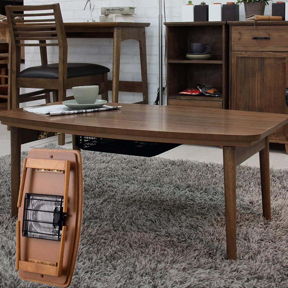 【送料無料】折脚コタツ エルフィ 901WAL こたつ 幅90CM テーブル 東谷 AZUMAYA '天然木 折りたたみ式 フォールディング ダイニングテーブル ひとり暮らし ちゃぶ台 センターテーブル