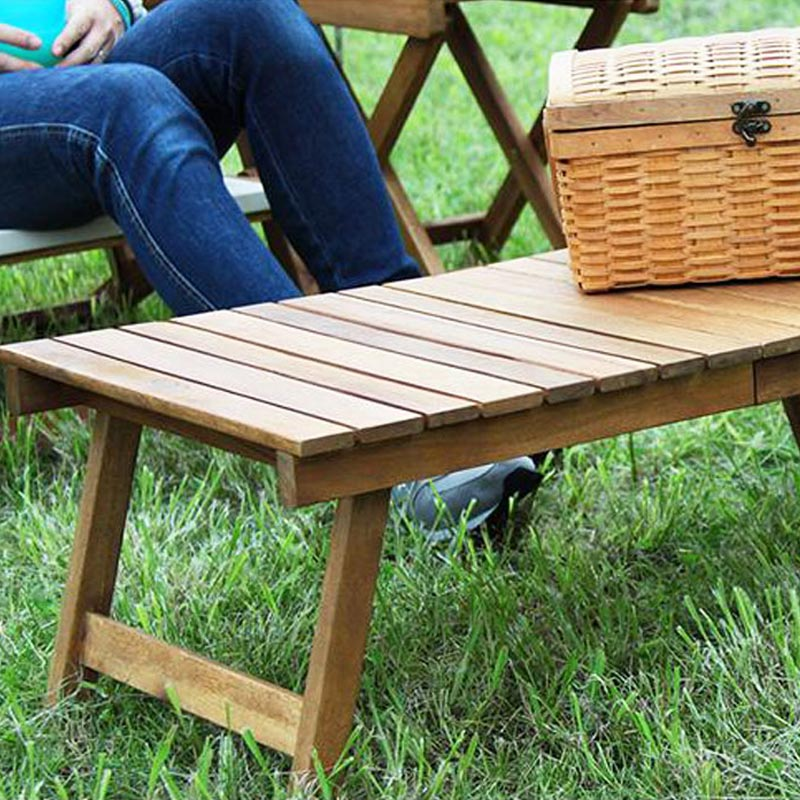 With Outdoor Folding Low Table Denim