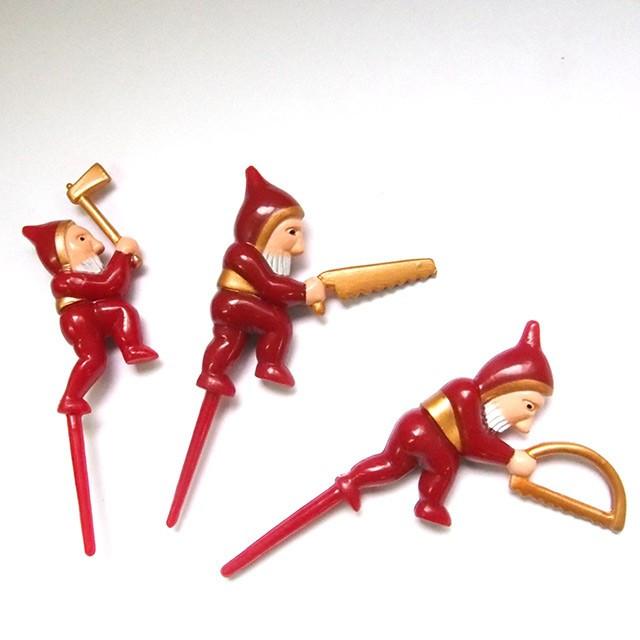 【送料無料】クリスマスピック 森の小人 150個(3種類各50個)/業務用 ケーキピック クリスマスピック ケーキ飾り デコレーション クリスマス ピック