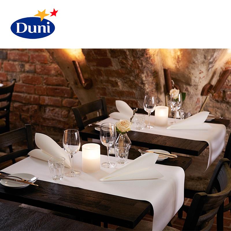 業務用 テーブルランナー DUNI ブリッジランナー ベーシック 0.4×24m ホワイト 白 6本セット テーブルクロス ペーパー テーブルランナー 高品質 ホテル レストラン 業務用 大容量