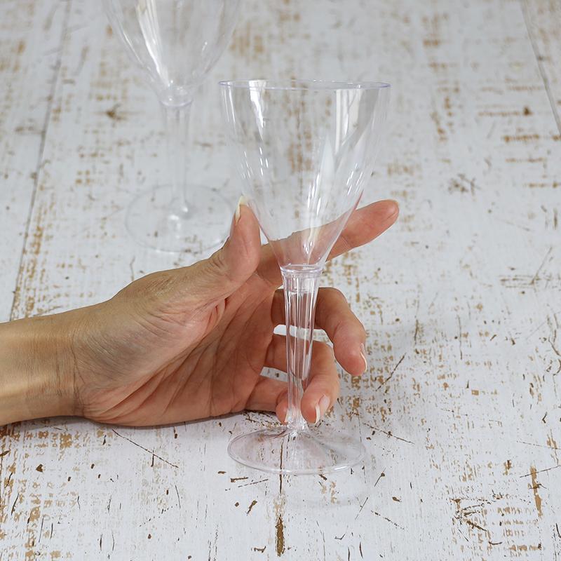 業務用 使い捨て エコ グラス プラスティックグラス プラカップ ワイン ワイングラス ☆送料無料☆ 当日発送可能 コップ シャンパン 軽い 休み 軽量 美しい セイバート クリスタル メーカー直送品 100個セット クリア 70×160mm 150ml イベント SBT Sabert 大容量 パーティ