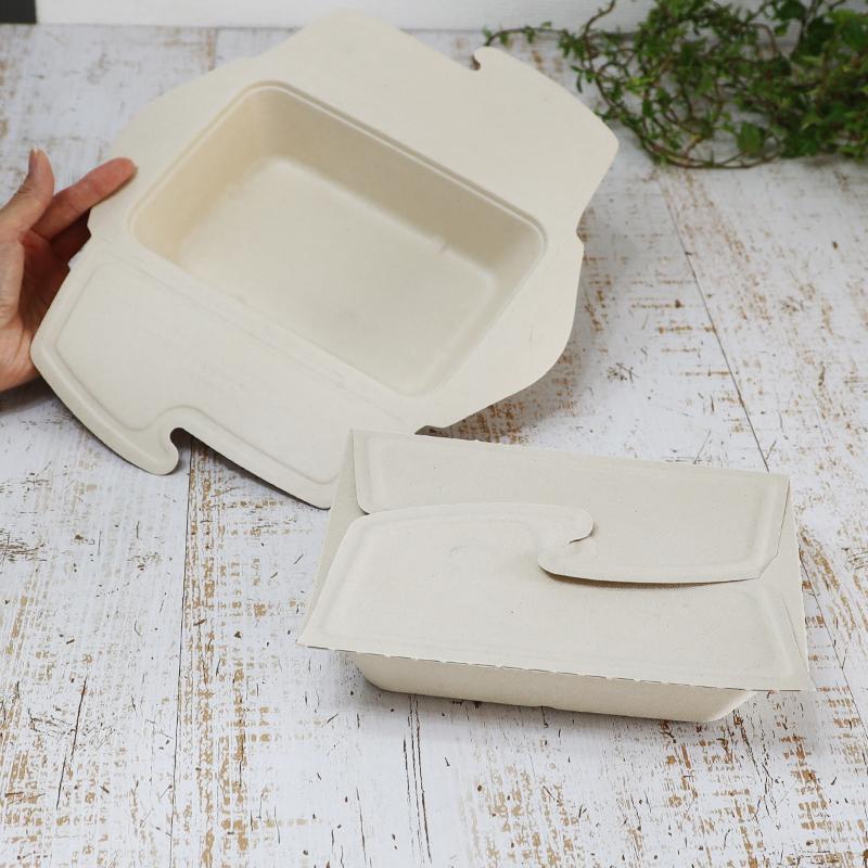 務用 再生紙 超目玉 紙容器 紙トレイ サトウキビ絞りカス Sabert 使い捨て エコ 国際ブランド サスティナブル 環境 おしゃれ ペーパーウエア カフェ フェス 環境配慮 食品容器 折りたたみ式蓋付き レンジOK 150個セット サトウキビの搾りカスから再生された堆肥可能なパルプ製 32ozオンス SBT-ロック付きパルプ容器 バガス 大容量 長方形 900ml カフェ丼 セイバート レクタングル メーカー直送品 再生紙製容器 業務用