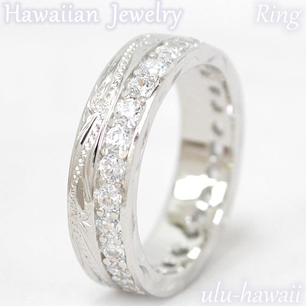 ULU-hawaiiのハワイアンジュエリーはすべてハワイから直輸入!厳選されたジュエリーのみを揃えた貴重な一品! ハワイアンジュエリー リング シルバーリング 指輪Silver Ringダブル・スクロール&ストーンring-1ハワイアンジュエリーリング