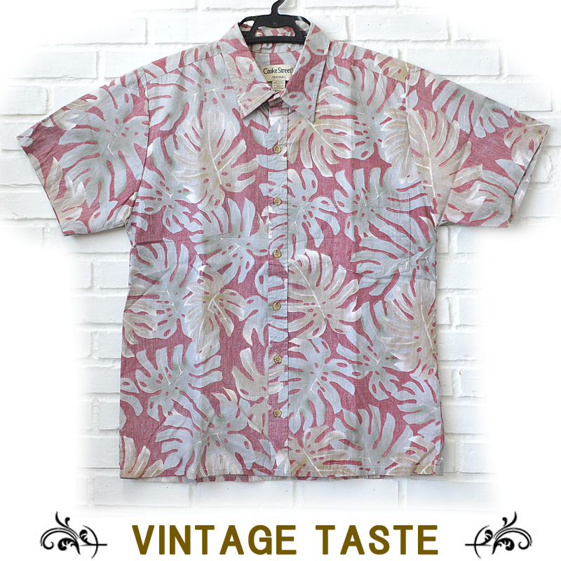 b34927fb8 ulu-hawaii: Hawaiian shirt men monstera red green brown 2XL | Rakuten  Global Market
