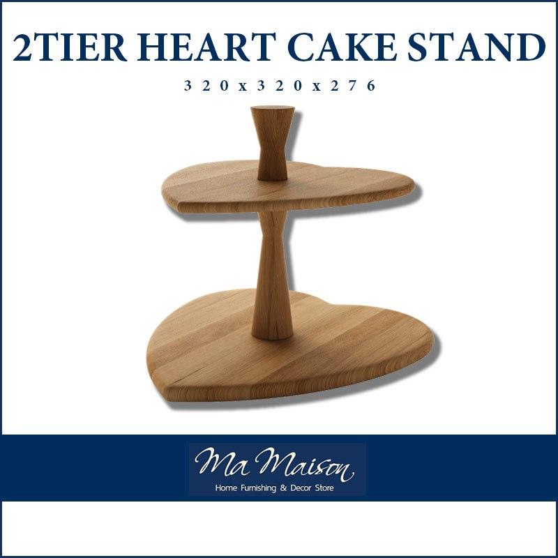木制蛋糕台灯2 TIER HEAT CAKE STAND