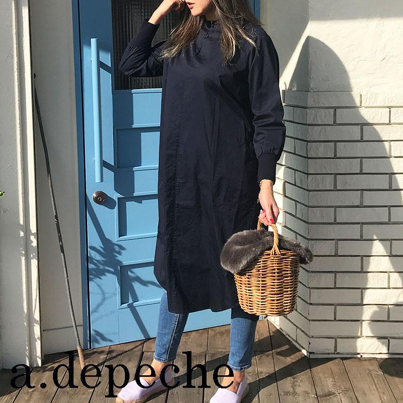 ワンピース リブ adepeche アデペシュレディースファッション