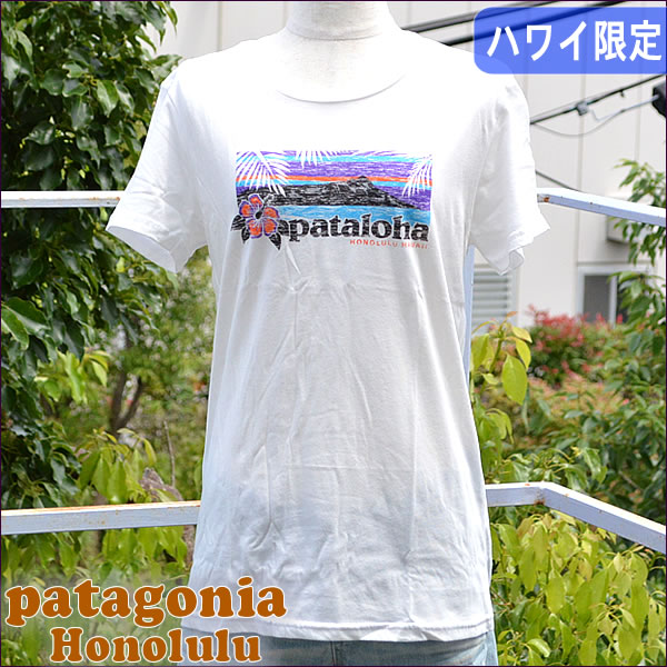 巴塔哥尼亞夏威夷火奴魯魯有限版 T 恤女士檀香山當地人 t 恤 (白色)