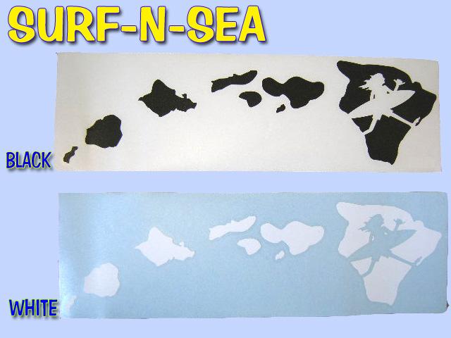 サーフアンドシー cut-out sticker Hawaii Islands ( LRG) 2 colors