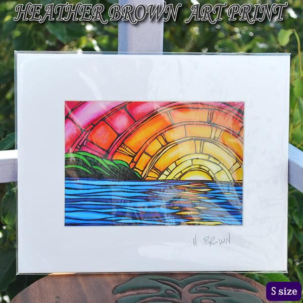【ヘザーブラウン】【Heather Brown】ART PRINT S Juicy Sunsetへザー ブラウン・アートプリント【ヘザー・ブラウン】Hawaii ハワイ雑貨 ハワイアン