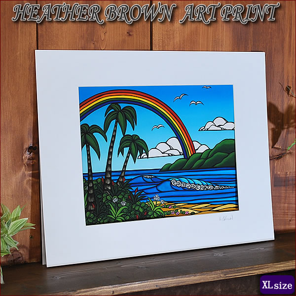 【ヘザーブラウン】【Heather Brown】ART PRINT XL ANUENUE (OVER THE RAINBOW)へザー ブラウン・アートプリントXL【ヘザー・ブラウン】Hawaii ハワイ雑貨 ハワイアン