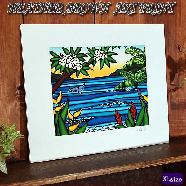 【ヘザーブラウン】【Heather Brown】ART PRINT XL Lahaina Shoreへザー ブラウン・アートプリントXL【ヘザー・ブラウン】Hawaii ハワイ雑貨 ハワイアン
