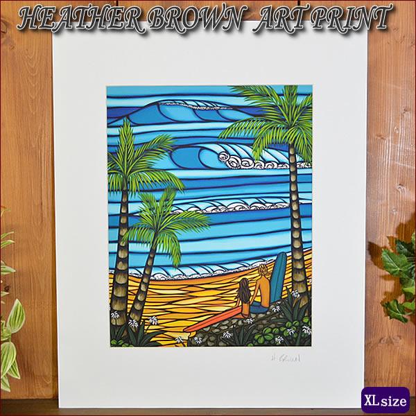 【ヘザーブラウン】【Heather Brown】ART PRINT XL Enjoying The Viewへザー ブラウン・アートプリントXL【ヘザー・ブラウン】Hawaii ハワイ雑貨 ハワイアン