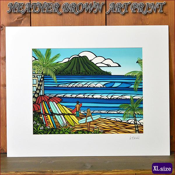 【ヘザーブラウン】【Heather Brown】ART PRINT XL WAIKIKI HOLIDAYへザー ブラウン・アートプリントXL【ヘザー・ブラウン】【Hawaii】【ハワイ 雑貨】【ハワイアン】【ハワイアン】【ハワイアン】