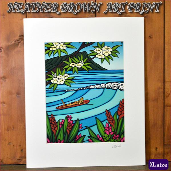 【ヘザーブラウン】【Heather Brown】ART PRINT XL WAIKIKI SURF GIRLへザー ブラウン・アートプリントXL【ヘザー・ブラウン】【Hawaii】【ハワイ 雑貨】【ハワイアン】【ハワイアン】【ハワイアン】