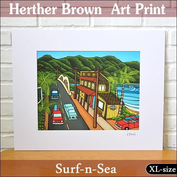 【ヘザーブラウン】【Heather Brown】ART PRINT XL SURF-N-SEAへザー ブラウン・アートプリントXL サーフアンドシー