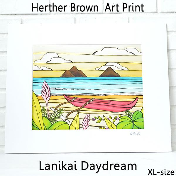 【ヘザーブラウン】【Heather Brown】ART PRINT XL LANIKAI DAYDREAMへザー ブラウン・アートプリントXL ラニカイデイドリーム