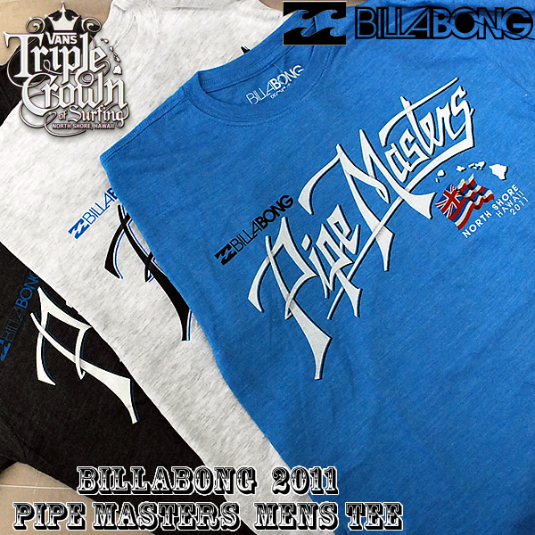 North shore 2011 triple crown PIPE MASTERS PIPE SCRIPT TEE M445SPIP handbill Bonn men T-shirt