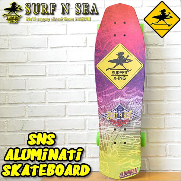 【SURF-N-SEA】【サーフアンドシー】 SNS ALUMINATI SKATEBOARD 2(Large)オリジナルアルミナティスケートボード 2【サーフィンシー】【Hawaii】【ハワイ 雑貨】【ハワイアン】ハワイアン雑貨