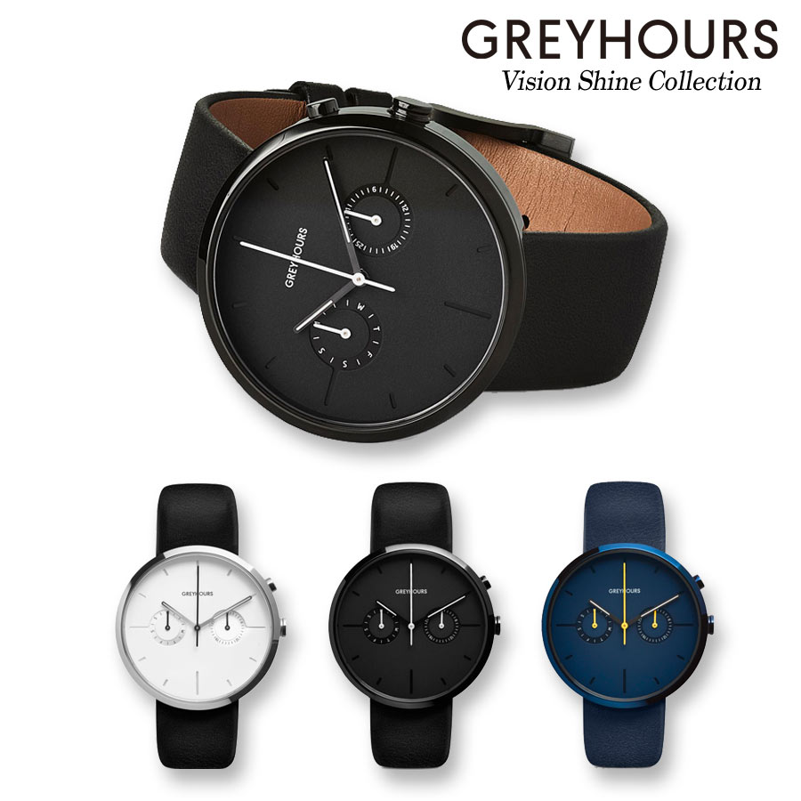 【日本公式品】グレイアワーズ 時計 メンズ レディース 男女兼用 Greyhours Vision Shine (ビジョンシャイン)