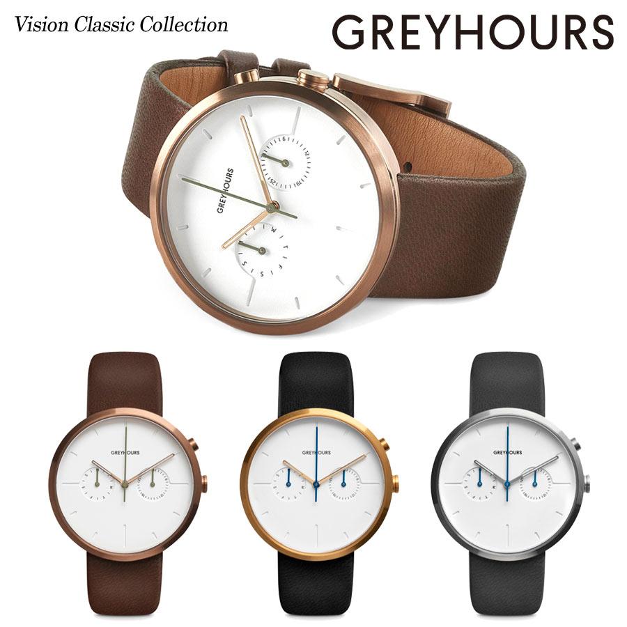 【日本公式品】グレイアワーズ 時計 メンズ レディース 男女兼用 Greyhours Vision Classic ビジョンクラシック