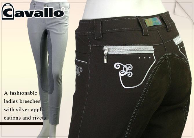 【レディース乗馬ズボン】 Cavallo(キャバロ) クリスタル-770