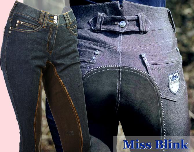 【レディース乗馬ズボン】 HKMジーンズキュロット ミス・ブリンク