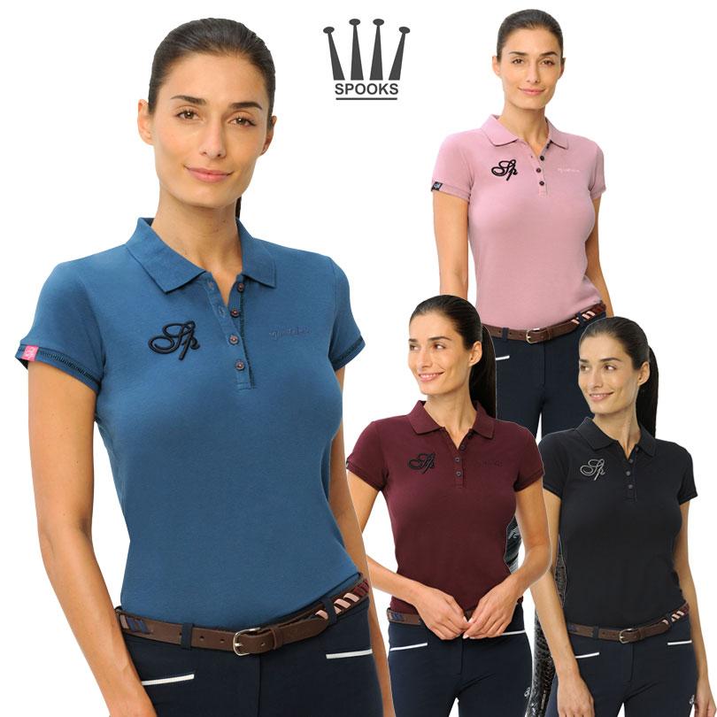 なめらかな着心地と美しいラインが人気のSPOOKSのポロシャツ。 Spooks レディースポロシャツ-エレーナ