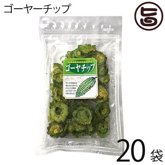丸茂食品 ゴーヤーチップ 63g×20袋 沖縄 土産 人気 野菜チップス 苦瓜 ドライ野菜 おやつ 送料無料