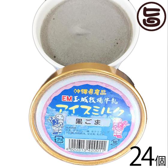 ギフト 玉城牧場牛乳 EMジェラート アイスミルク 24個入り 黒ごま 卵不使用 沖縄 土産 珍しい ご当地アイス 条件付き送料無料